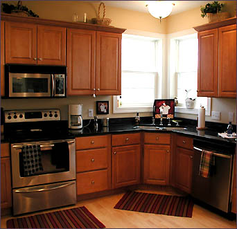 I Also Like The Grayish Color In This Kitchen: