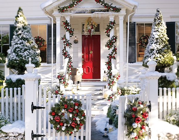 i - Red And White Outdoor Christmas Decorations