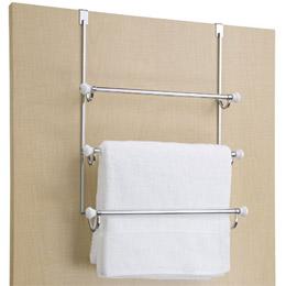 Attractive Over The Door Hook Rack With Towel Bar
