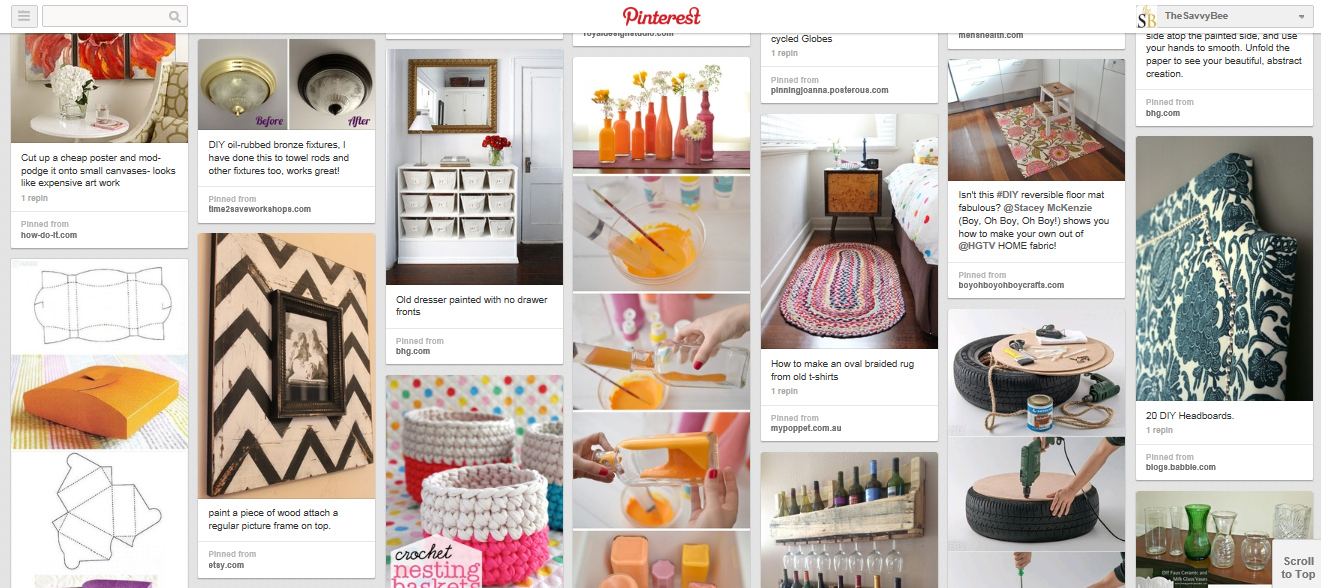DIY Pinterest Board