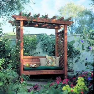 Garden Pench with Pergola