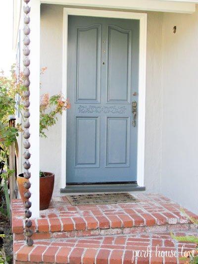 Front door inspiration for Blue green front door