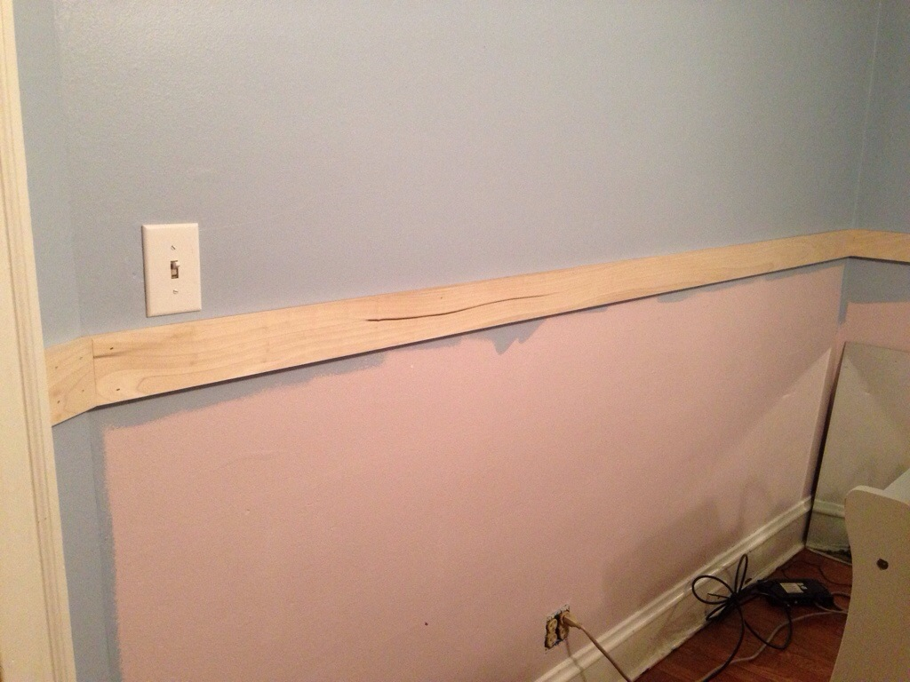 Wainscoting: Installation (Stage 1) on drywall top rail, crown moulding top rail, framing top rail, bar top rail, shelving top rail, window top rail, elevator top rail, wood top rail, closet top rail, beadboard top rail, stairs top rail,
