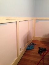 Wainscoting: Installation (Stage 1)