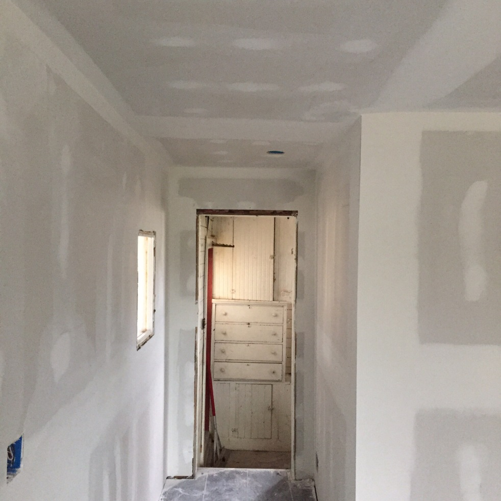 Hallway with doors removed